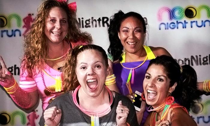 Neon Night Run 5k Fresno - Huntington: Registration for One or Two for Neon Night Run 5k Fresno on Saturday, July 27 (Up to 56% Off)