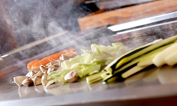 Kampachi Hibachi Steak House & Sushi Bar - Maple Shade: Hibachi Dinner for Two, Four, or Eight at Kampachi Hibachi Steak House & Sushi Bar (Half Off)