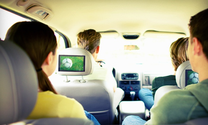 Can You Hear It Car Audio Inc. - East Longmeadow: DVD Installation with Flip-Down TV or Headrest TVs at Can You Hear It Car Audio Inc. in East Longmeadow (Up to 54% Off)