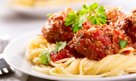 Italian Dinner Food at Salerno's Restaurant (53% Off). Two Options Available.