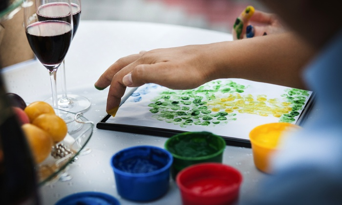 A&A ENERGII INC - Buckhead Tower: Sip and Paint Class for One or Two with Wine and Snacks at A&A Energii (Up to 51% Off)