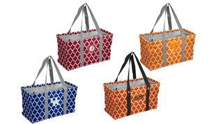 Logo Brands NCAA Quatrefoil Collapsable Multipurpose Picnic Caddy