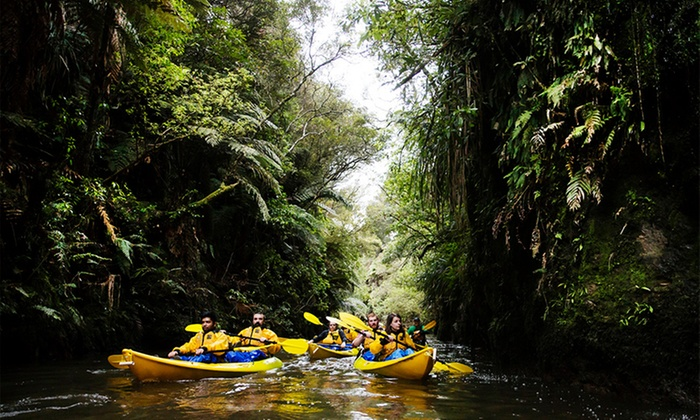 Lake District Adventures - Tirau: $55 for Three-Hour Glow Worm Kayak Trip with Lake District Adventures (Up to $99 Value)