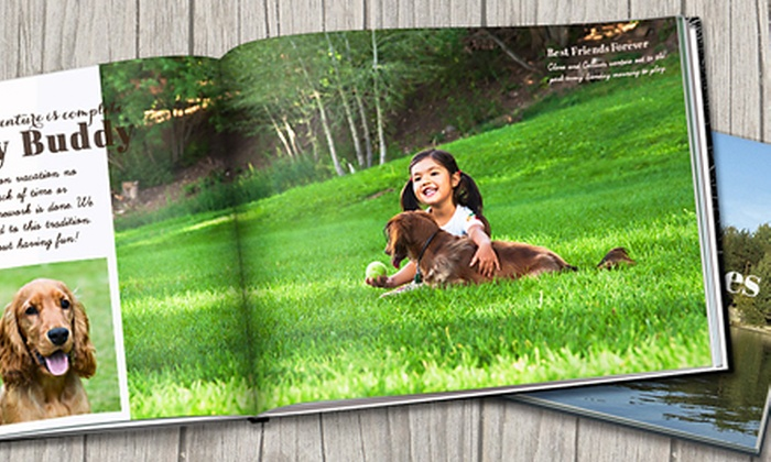 "Picaboo: 20-Page 8.5""x11"" or 11""x14"" Custom Hardcover Photo Book (Up to 75% Off). Free Shipping."