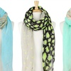 Leopard and Star Print Scarves