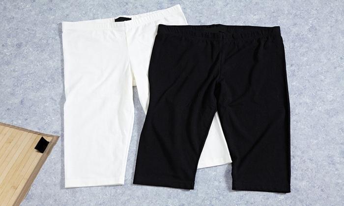 Knee Length Lounge Shorts: Knee Length Lounge Shorts in Black or White. Free Returns.