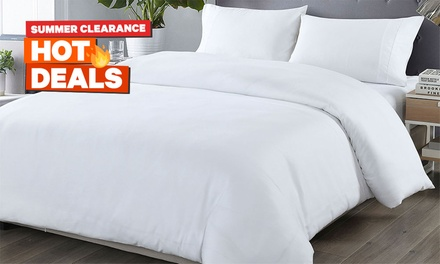 1000TC Bamboo Blended Quilt Cover Set: Double ($25), Queen ($27) or King ($29) (Don't Pay up to $169)