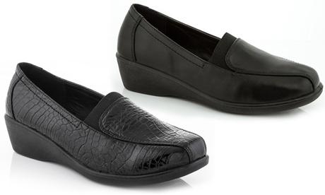 Rasolli Nina Women's Comfort Wedge Loafers e75a0410-d845-4eba-bb7e-8d6999cd016b