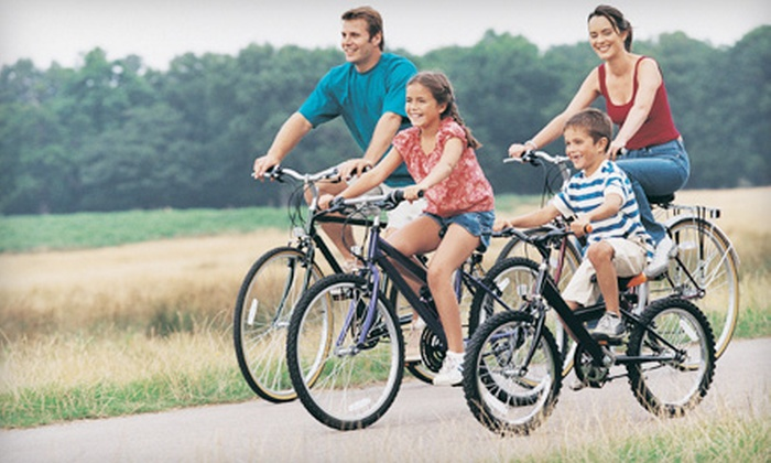 Pedal & Cup - Springfield: Adult or Child Bike Rental, or Bike Rental for Two or Four with Lunch from Pedal and Cup in  (Up to 56% Off)