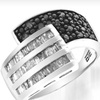 $99 for a Black and White Diamond Ring