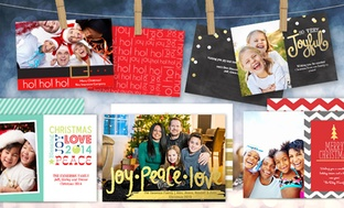 25-Count 5''x7'' Double-Sided Flat Holiday Cards or Invitations