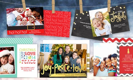 50 or 100 Custom Holiday Cards from Staples (77% Off)