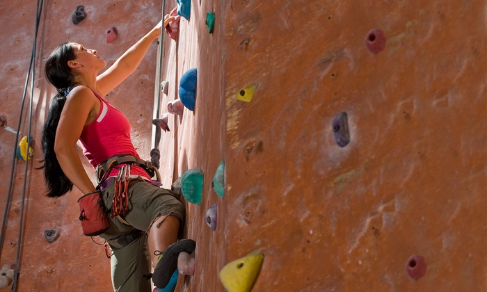 Indoor Rock Climbing Dyno Rock Indoor Climbing Center Groupon