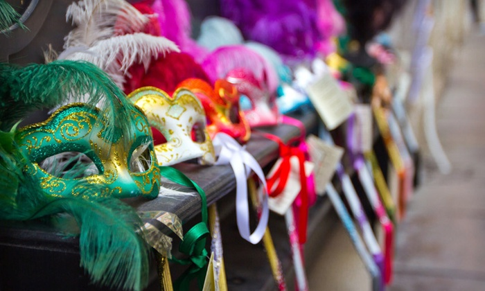 St. Louis Mardi Gras Weekend Package - Downtown St. Louis: One- or Two-Night St. Louis Mardi Gras Weekend Package with Breakfast, Beads, Drink Tickets, and Late Check-Out