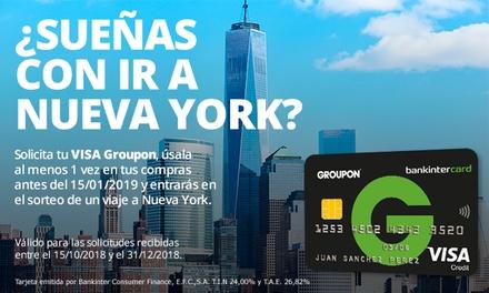 Gana un viaje a Nueva York para 2 personas con tu Visa Groupon Bankintercard