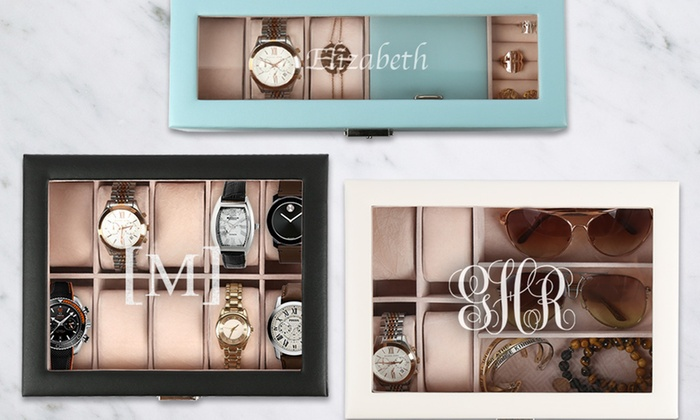 654e8e5b1e Up to 42% Off Personalized Jewelry Valets or Watch Boxes