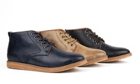 Harrison Casual Chukka Mens Boots (Taupe / Black / Navy)