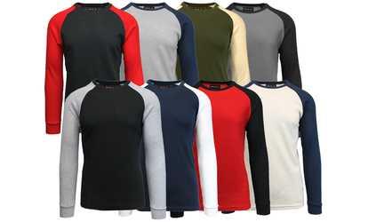 deaa91be697a Shop Groupon Galaxy By Harvic Men s Long-Sleeve Raglan Thermal Shirt  (3-Pack)