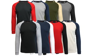 Galaxy By Harvic Men's Long-Sleeve Raglan Thermal Shirt (3-Pack)