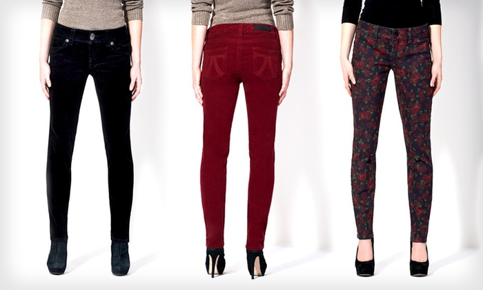 Seven7 Women's Skinny Corduroys or Printed Jeans: Seven7 Women's Skinny Corduroys or Printed Jeans (Up to 53% Off). Multiple Options Available. Free Shipping and Returns.