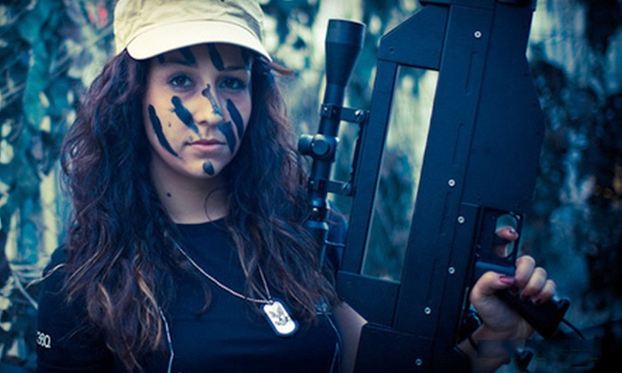 Battlefield Massachusetts - Brookfield: Combat-Themed Outdoor Laser-Tag Battle for Up to 10 or 20 from Battlefield Massachusetts (Up to 51% Off)