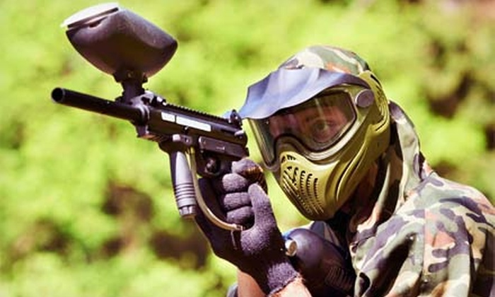 NVP Paintball - Van Buren: Paintball Package with Equipment, Unlimited Air Fills, and Paintballs for Two or Four at NVP Paintball (Half Off)