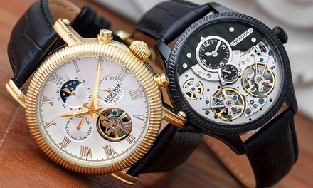 Heritor Automatic Skeleton Watch