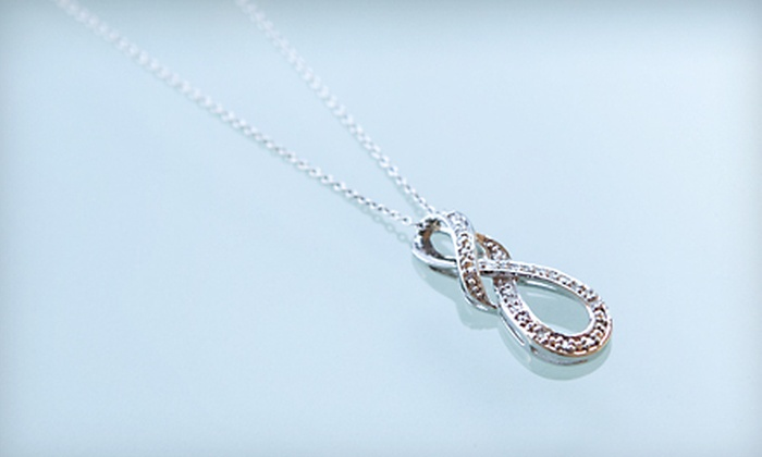 Infinity Diamond Pendant: $29 for an Infinity Diamond Pendant with Sterling Silver Chain ($99 Value). Shipping Included.