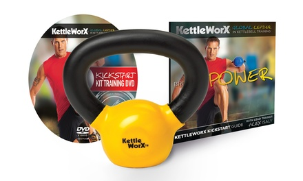 KettleWorx 5Lb. Kettlebell, Workout DVD, and Kickstart Guide Bundle