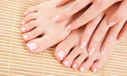 Spa Pedicure, Plus Optional Manicure with Vinyl Hard Coat from Marilyn Rice at Crescent Park Salon (50% Off)