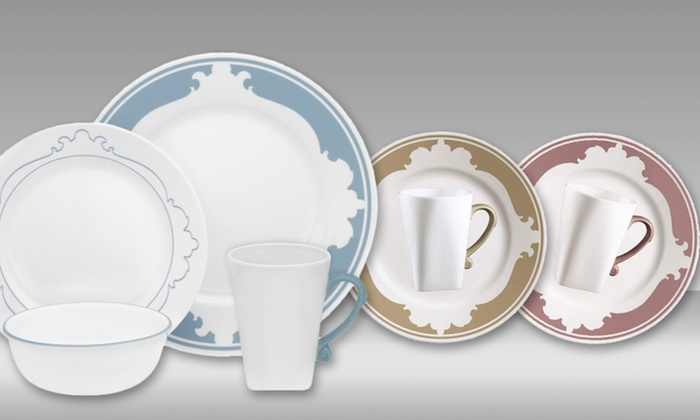 $49.99 for a Corelle B.Frames 16-Piece Dinnerware Set & Corelle 16-Piece Dinnerware Sets | Groupon Goods