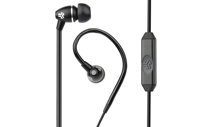 JBuds FIT Sport Water-Resistant Earbuds with Customizable Ear Hooks: JBuds FIT Sport Water-Resistant Earbuds with Customizable Ear Hooks: FIT-BLK-BOX. Free returns.