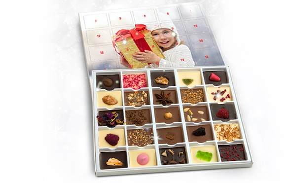 schoko adventskalender mit foto groupon goods. Black Bedroom Furniture Sets. Home Design Ideas