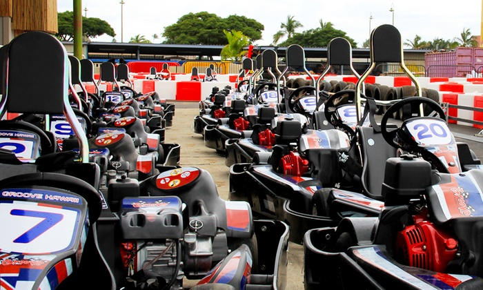 The Groove - Ala Moana - Kakaako: Two Go-Kart Races, One Racing Membership, or a Racing Party for Up to 30 at The Groove (Up to 57% Off)