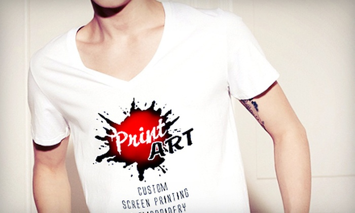 Print Art Screen Printing & Embroidery - Daytona Beach: $29 for $90 Worth of Custom Screen-Printed and Embroidered Apparel from Print Art Screen Printing & Embroidery