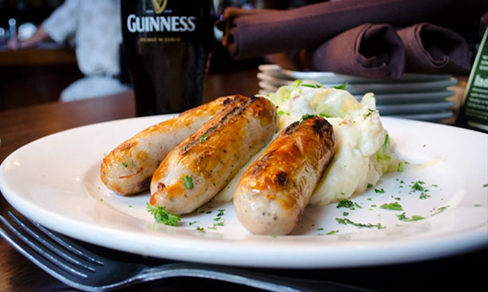 Dubliner Irish Pub - Mizner Park: Irish-Inspired Dinner or Brunch for Two at Dubliner Irish Pub (Up to 47% Off)