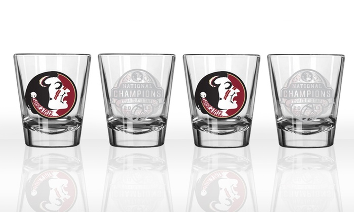 Florida State BCS Champions 4-Pack of Shot Glasses: Florida State BCS Champions 4-Pack of Shot Glasses. Free Returns.