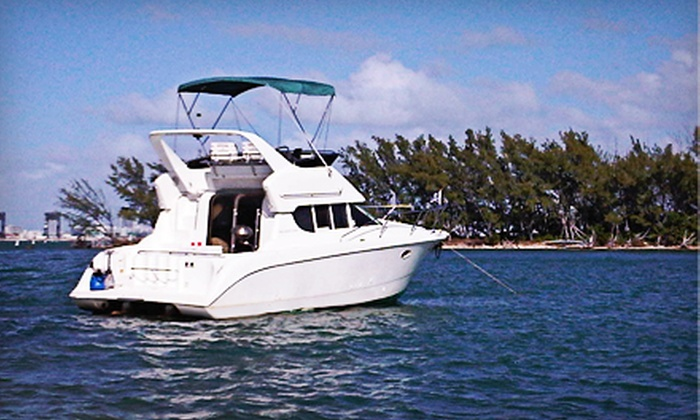 South Beach Charters, LLC - Downtown Miami: Three-Hour Private Yacht Charter for Four from South Beach Charters, LLC (62% Off)