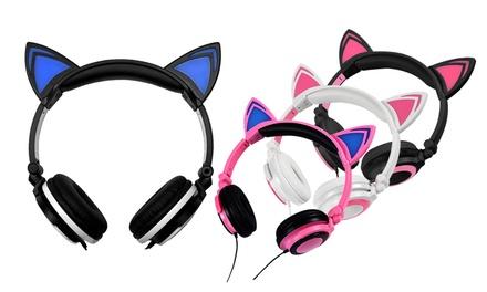 1 o 2 cascos de oreja de gato con luces