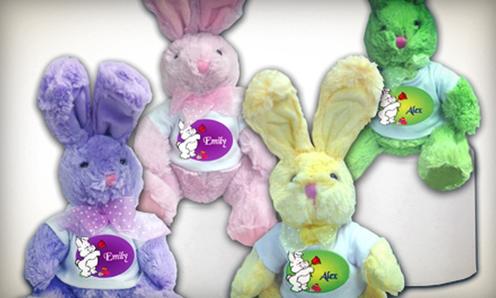 Happy Kids Productions - Somers: One or Two Personalized Stuffed Easter Bunnies from Happy Kids Productions (Up to 69% Off)