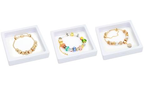 Pulseras con charms de cristales multicolor