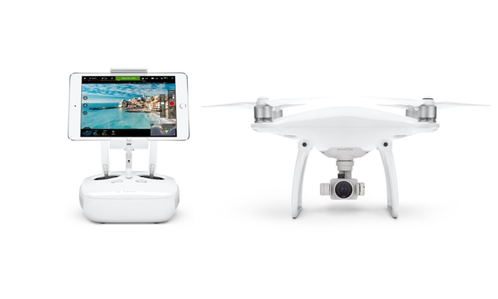 DJI Phantom 4 Smartphone-Controlled Drone with 4K Camera