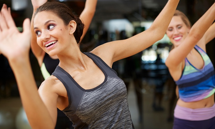 Women 39 s gym membership ladies workout express groupon for Lady fitness