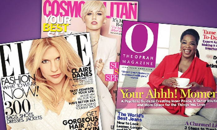 Hearst Magazines: Two One-Year or Six-Month (O, The Oprah Magazine) Magazine Subscriptions (Up to $30 Value). 17 Titles Available.