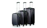 3-Piece Timmari Hardside Spinner Luggage Set (Black)