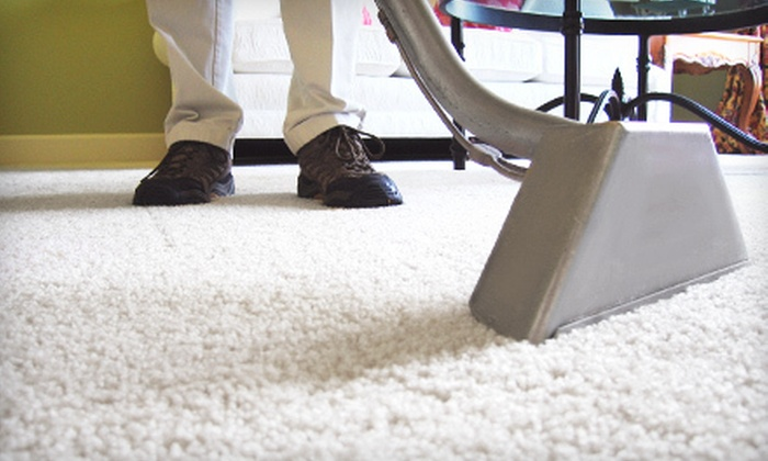 Steam Pro - Heart Lake: Steam Cleaning for a Couch or Chair, or for Carpeting in Three Rooms and a Hallway from Steam Pro (Up to 73% Off)