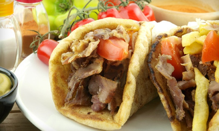 George's Gyros - Waukegan: Gyro Meal for Two or Four at George's Gyro in Waukegan (Up to 55% Off)