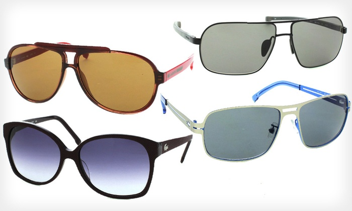 Lacoste Designer Sunglasses: Women's or Unisex Lacoste Sunglasses (Up to $213 List Price). 14 Options Available. Free Shipping and Free Returns.