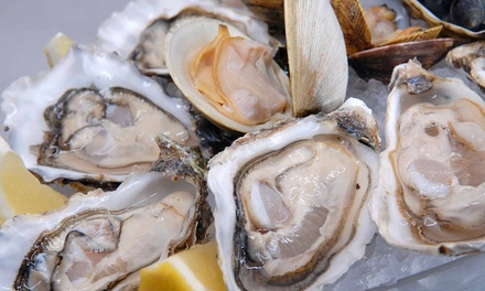 One Seafood Platter, 12 Oysters, and Two Drinks at Big T's Seafood Market Bar (40% Off)