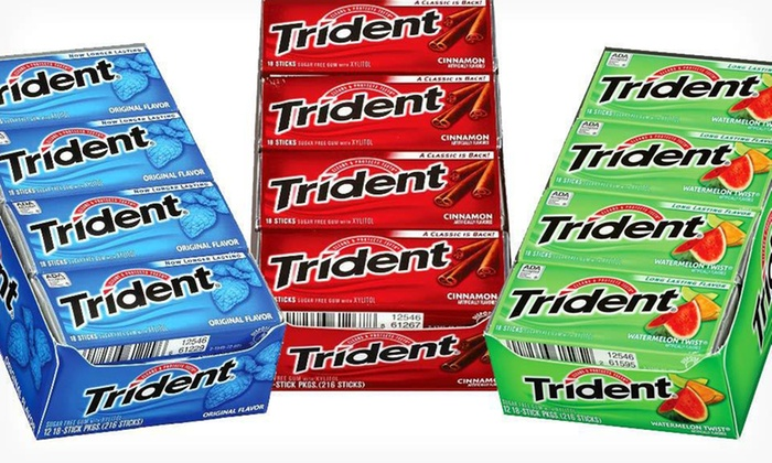 12 Packs of Trident Gum: $8.99 for 12 Packs of Trident Gum ($15.60 List Price). Five Flavors Available.